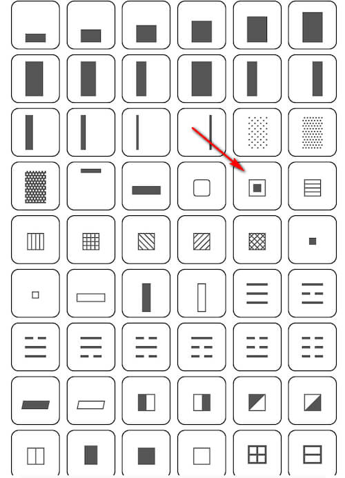 Patterns for background from symbols