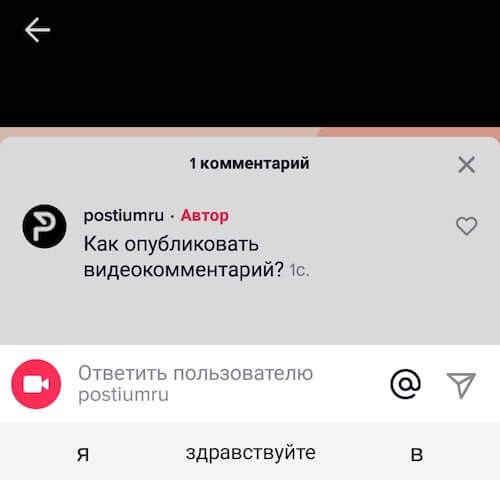 Reply to comment on Tik-Tok