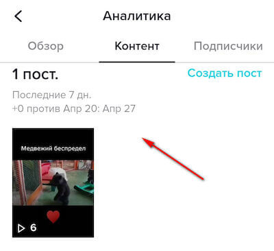 How to view video statistics in Tik-Tok