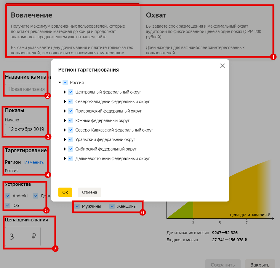 How to place an advertisement in Yandex.Zen