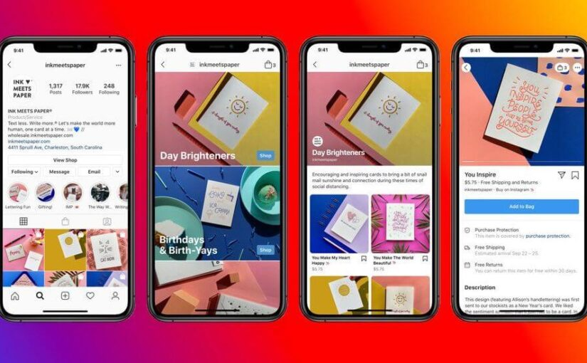 Shops will appear on Instagram and Facebook for creating online stores