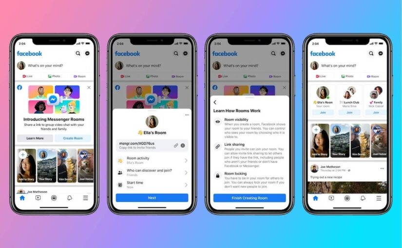 Messenger Rooms will be available for Facebook groups and events