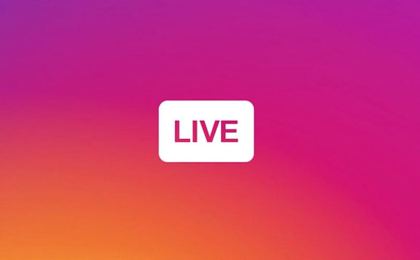 Instagram has the ability to add the name of the live broadcast