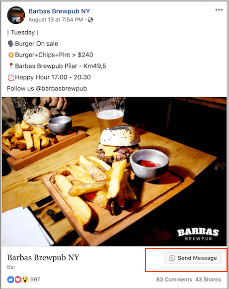 Advertising with the Vacap button on Facebook
